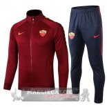AS Roma Insieme Completo Rosso Navy Giacca 2019-20