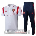 Arsenal Bianco Rosso Set Completo POLO 2019-20
