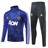 Manchester United Insieme Completo Blu Nero Bianco Giacca 2019-20